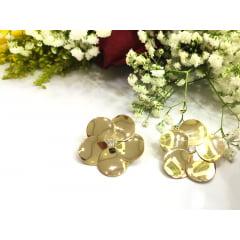Brinco Formato Flor Banhado a Ouro BR0001Y