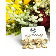 Brinco Formato Flor com Zircônia - BR0004H