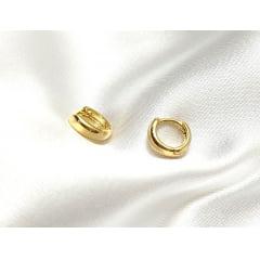Argola Pequena Banhada a Ouro  - 5 ANOS DE GARANTIA - BR0002P
