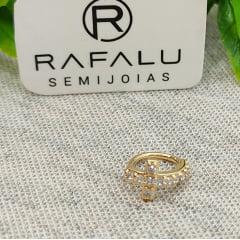 Piercing Fake Banhado a Ouro Rafalu BR0006J - 05 ANOS DE GARANTIA