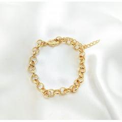 Pulseira Banhado a Ouro Rafaluc(18cm + extensor) - PUL0003Y