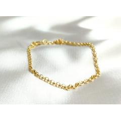 Pulseira Elo Portugues fina Banhada a Ouro Rafalu (18,5 cm) - PUL0003f