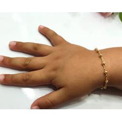 Pulseira Infantil (14cm) Banhado a Ouro Rafalu - PUL0003H