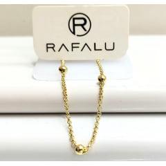 Pulseira Infantil Banhada a Ouro Rafalu (11 cm + EXTENSOR) 5 ANOS DE GARANTIA - PUL0002G
