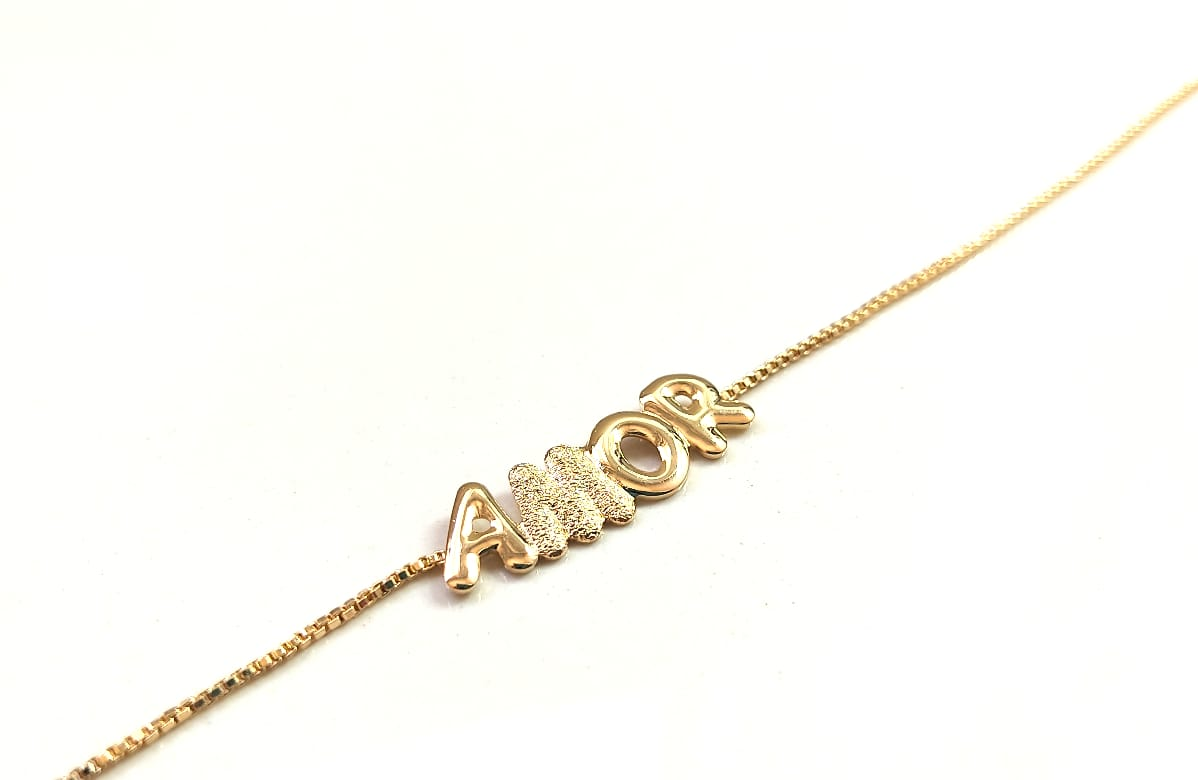 Tornozeleira Banhada a Ouro Rafalu (tam.23,5 cm mais extensor) - 5 ANOS DE GARANTIA - TZ0001S