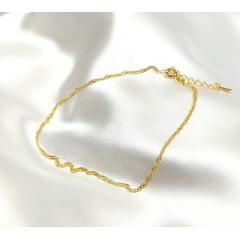 Tornozeleira Banhada a Ouro Rafalu (tam.24 cm + EXTENSOR ) - 5 ANOS DE GARANTIA - TZ0001H